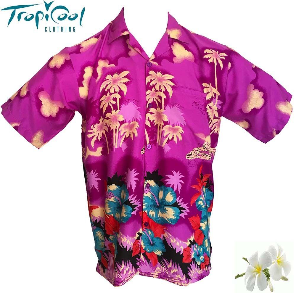 Go Troppo Purple Mens Hawaiian Shirts Bucks Stag Party Fancy Dress ...